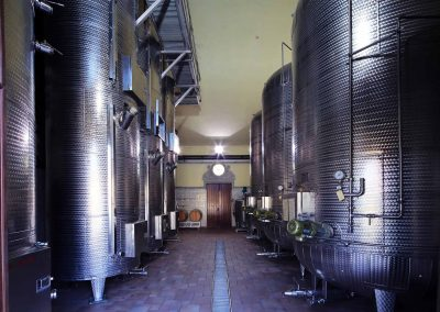 The wine-making room
